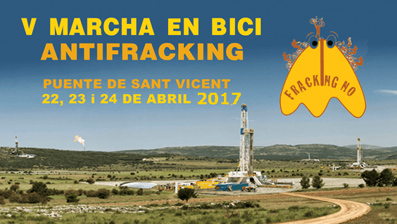 cartel V Marcha antifracking 2